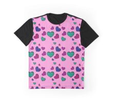 seamless pattern with colorful striped hearts Graphic T-Shirt