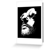 Lèon Movie Black and White Vectorized <3 Greeting Card