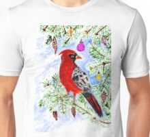 Christmas Red Cardinal Unisex T-Shirt
