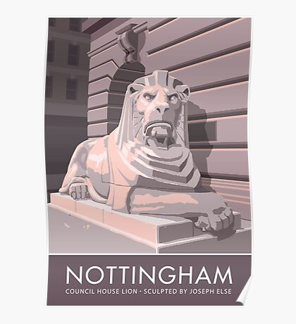 Nottingham, Council House Lion Poster
