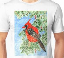 Christmas Red Cardinal 2 Unisex T-Shirt