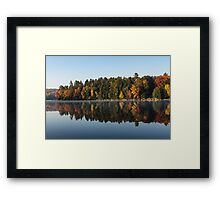 Mirrored Autumn -  Framed Print