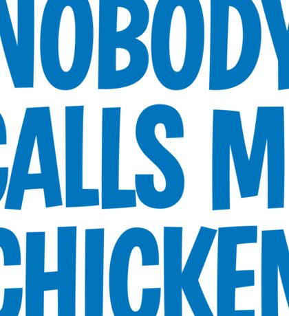 Back to the Future 'Chicken' quote Sticker