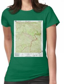 USGS TOPO Map California CA Big Pine Mountain 100201 1995 24000 geo Womens Fitted T-Shirt