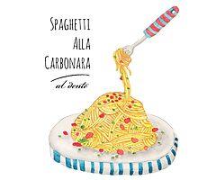 Spaghetti Alla Carbonara Photographic Print