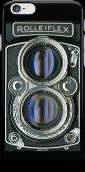 1956 ROLLEIFLEX 2.8D TWIN LENS REFLEX IPHONE CASE by Brett Rogers