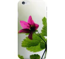 Salmon berry flowers 2 iPhone Case/Skin