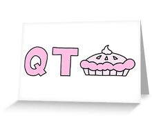 qt pie Greeting Card
