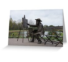 The Lone Painter Greeting Card