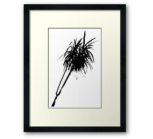 Elegant minimalist palm design in Chinese ink Framed Print