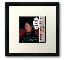 "The Tony 'Tex' Watt Jango Radio ""Plugged"" Album Promo Framed Print"