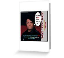 "The Tony 'Tex' Watt Jango Radio ""Plugged"" Album Promo Greeting Card"