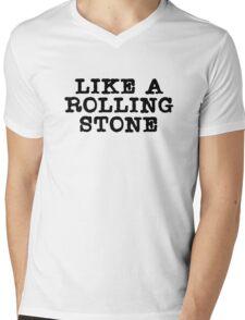 bob dylan like a rolling stone the beatles rock music lyrics popular song hippie t shirts Mens V-Neck T-Shirt