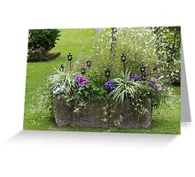 furnished garden Greeting Card