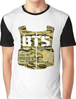 BTS Bangtan Boys Bulletproof Vest Camuflage Graphic T-Shirt
