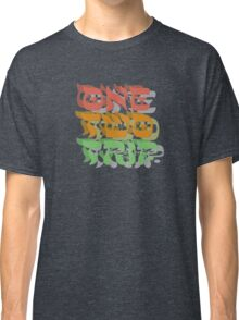 lsd trip magic mushrooms hippie hippies psychedelic drugs party trance rock techno freedom festival t shirts Classic T-Shirt