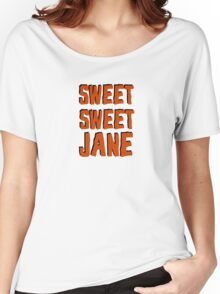 lou reed velvet underground sweet jane song lyrics rock n roll music cool t shirts Women's Relaxed Fit T-Shirt