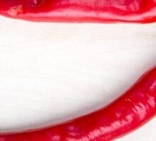 Two red hot chili pepper closeup  Sticker