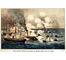 Great naval victory in Mobile Bay, Aug. 5th 1864 - 1864 Photographic Print
