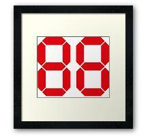 Back to the Future '88' logo design Framed Print
