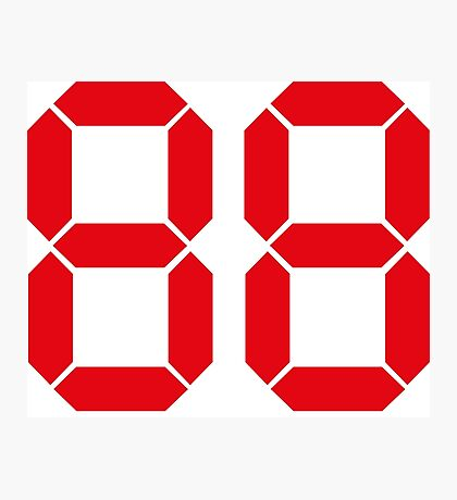 Back to the Future '88' logo design Photographic Print