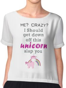 unicorn slap you Chiffon Top