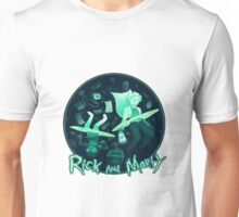 Ricy And Morty In Galaxy Unisex T-Shirt