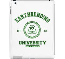 Earthbending University Earth Kingdom - Green iPad Case/Skin