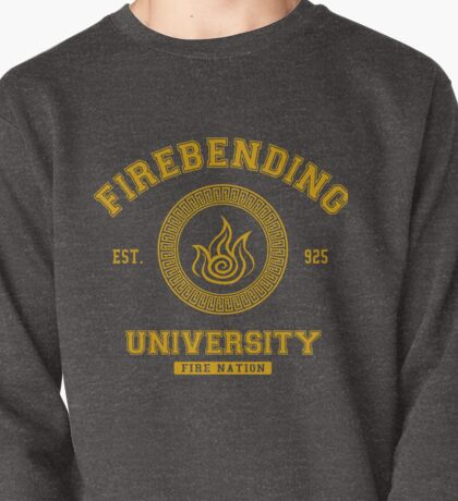Firebending University Fire Nation - YELLOW Pullover