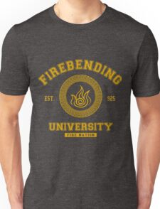 Firebending University Fire Nation - YELLOW Unisex T-Shirt