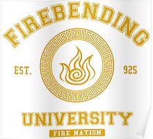 Firebending University Fire Nation - YELLOW Poster