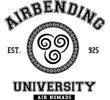 Airbending University Air Nomads -BLACK Photographic Print