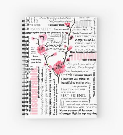 I love you Flowers Spiral Notebook