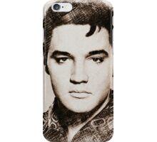 Digital sketch of Elvis Presley 03 iPhone Case/Skin