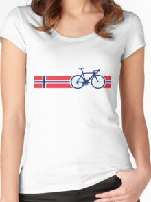 Bike Stripes Norway Women's Fitted Scoop T-Shirt