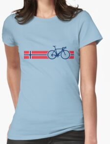 Bike Stripes Norway Womens Fitted T-Shirt