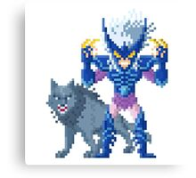 Alioth Epsilon Fenrir - Saint Seya Pixel Art Canvas Print