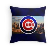 Chicago Cubs Baseball Throw Pillow