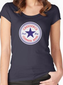 CCR VINTAGE LABEL STAR Women's Fitted Scoop T-Shirt