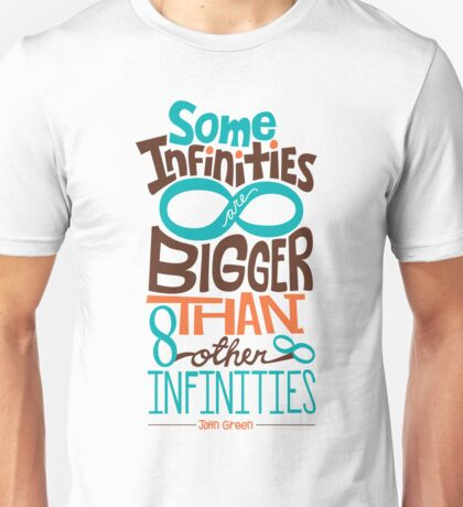 Some Infinities are Bigger Than Other Infinities Unisex T-Shirt