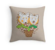 Potted Collie flowers (darker) Throw Pillow