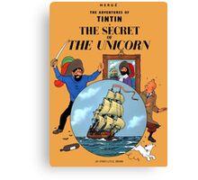 Tintin - The Secret of the Unicorn Cover Canvas Print