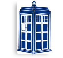 Colour Me Tardis Canvas Print