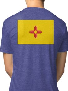 New Mexico, Flag of New Mexico, USA, America, Pure & Simple. Tri-blend T-Shirt