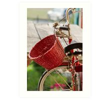 bicycle whit baskets Art Print