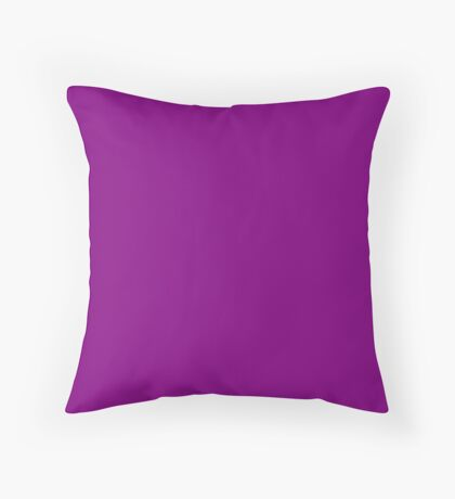 Purple No1 Throw Pillow