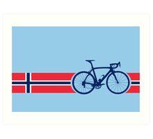 Bike Stripes Norway Art Print