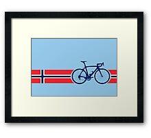 Bike Stripes Norway Framed Print