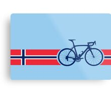 Bike Stripes Norway Metal Print