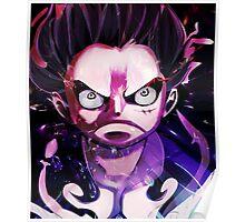 Luffy - One Piece - Gear 4 Poster